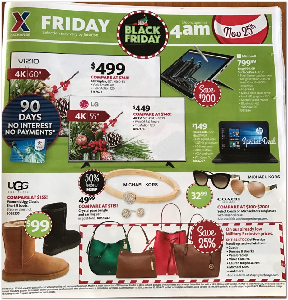 AAFES Black Friday page 1
